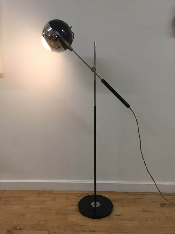 Chrome Eyeball Floor Lamp // Adjustable Articulating // 1960s SALE