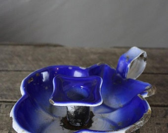 Vintage Blue Candle Holder