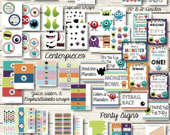 Monster Party Decorations - Monster Birthday - Little Monster  Decorations - Printable Monster Party - Monster Banner - Monster Bash Party
