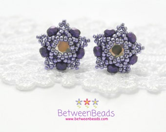 Swarovski Stud Earrings, Swarovski Crystal Earrings, Star Earrings Purple, Small Stud Earrings, Beaded Beads, Gift Ideas, Casual Earrings