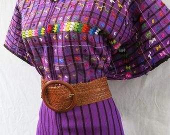 Handmade Mayan Guatemalan Embroidered Huipil from an Lucas Toliman Guatemala Mayachic