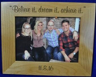 Custom Picture Frames ~ Gift For Family ~ Personalized Frame ~ Engraved Picture Frames ~ Great Gifts ~ Achievement Frame ~ Recognition Gift