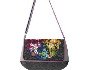 Messenger Bag, Crossbody Purse, Vegan Messenger Bag, Handbag, Gift for Her, Teen Purse, Tween Bag, Crossbody Messenger, Gift Mom