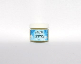 peppermint ginger muscle balm \ 2 oz \ vegan sore muscle rub \ organic pain-relief salve \ relief from muscle & joint aches