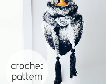 Crochet Pattern : The Hayden Scarf
