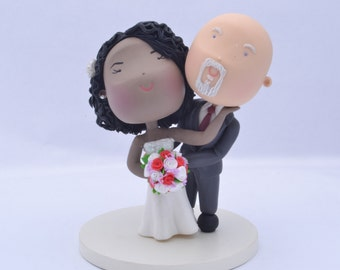 "Couple hugging Wedding cake topper. Wedding figurine. ""Mo Anam Cara"". Handmade. Fully customizable. Unique keepsake"