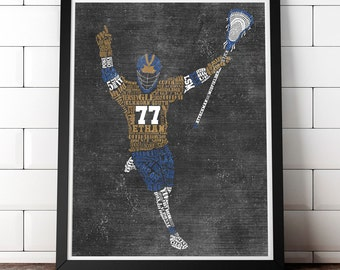 LACROSSE Gift - PERSONALIZED Lacrosse Coach Gift - Lacrosse Artwork - Lacrosse Wall Art - Lacrosse Senior Gift - End Of Season Gift