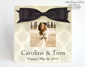Engagement Picture Frame Gift to Couple Newly Engaged Gift Ideas Bridal Shower Gifts Personalized Engagement Photo Frame Custom Wedding Idea
