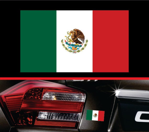 4 Mexican Flag Sticker Vinyl Decal Mexico Self Adhesive