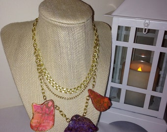 Emma Multi Strand Statement Necklace