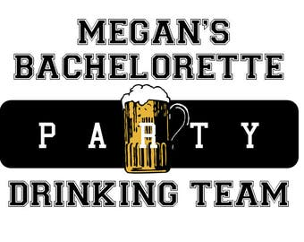 Bachelorette Party Tattoo,  Bachelor Party Tattoo, Hen Party Tattoo, Drinking Team, Custom Hen Party Tattoo