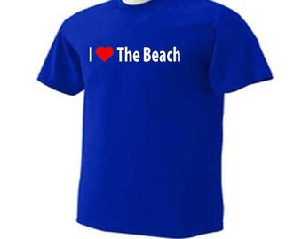 I Love The Beach Summer Vacation Ocean T-Shirt