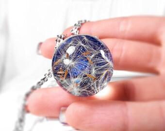 Dandelion Resin Necklace | Make a wish Dandelion Necklace | Dandelion Pendant | Dandelion Jewelry | Resin Pendant | Botanical Necklace