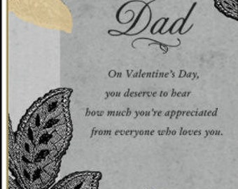 Valentines Day Card, Gifts for Dad, Happy Valentines Day, Dad from Daughter, Dad from Son