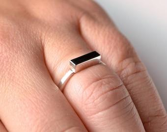 Bar Ring - Geometric Ring - Bar Stacker Ring - Simple Bar Ring - Minimal Bar Ring - Modern Bar Ring - Minimalist Bar Ring - Stacker Bar Ring