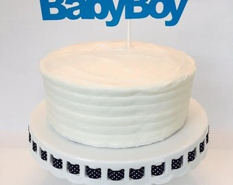 Baby Boy Cake Topper - Baby Shower - New Baby - Party - Gender Reveal - Blue - Party Decorations