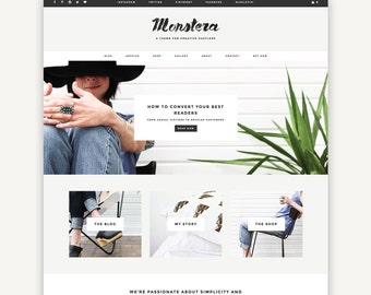 Responsive Wordpress Theme | Parker | Blog and eCommerce Design | Self-Hosted WordPress.org
