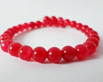 Blushing Malaysian Jade Bracelet