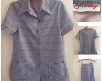 Bradley Pastel Plaid 70s Suit