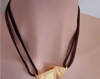 Ani ldodi necklace - I am my Beloved and my Beloved is mine necklace - Leather necklace - 72 names of G-d for love