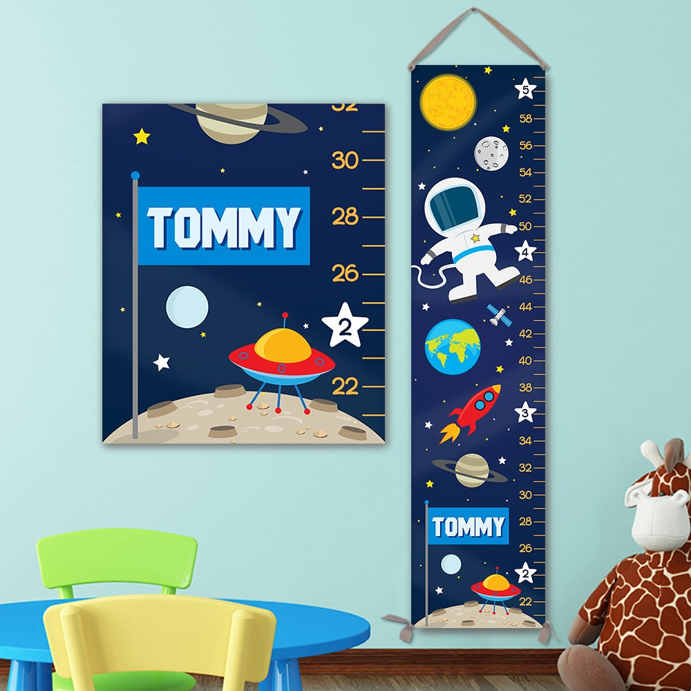 Growth chart for outer space nursery personalized canvas growth growth chart for outer space nursery personalized canvas growth chart space nursery solar system nursery space growth chart gc4003u nvjuhfo Image collections