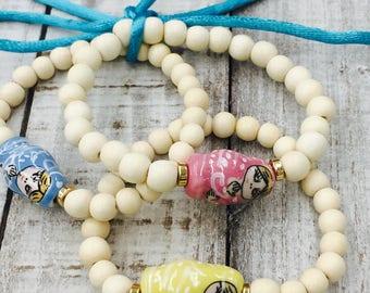 Doll bracelet- mamushka bracelet-