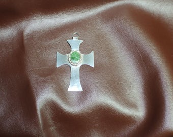 Vintage Sterling Silver Hand Wrought Cross