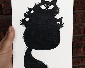 Print - Black cats
