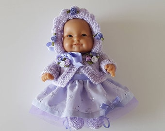 Fizziesfrocks Handmade Baby Dolls Clothes Ensemble for 8 inch Berenguer or similar