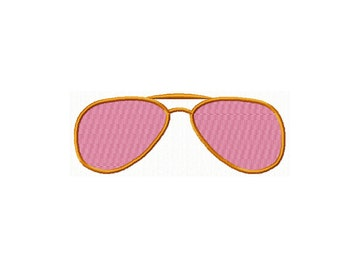 Embroidered Sun glasses, 3-4-and 5 inch hoop