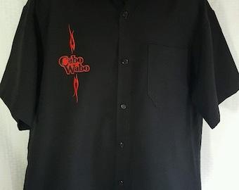 Vintage CABO WABO Cantina Tequila XL Short Sleeve Black Button Front Shirt Sammy Hagar