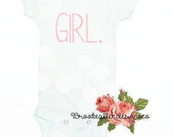 Baby Girls Announcement Onesie-Baby Girls Onesie-Baby Girl Outfit-Outfit for Baby Girl-Girl-Newborn Girl Outfit