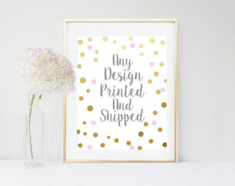 Print and Ship Any Design