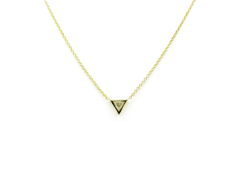 Promo sale trillion diamond necklace triangle pendant simple trillion diamond necklace triangle pendant simple diamond necklace diamond pendant thin gold diamond necklace aloadofball Images