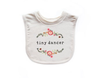 "Organic ""Tiny Dancer"" Unbleached Bib"