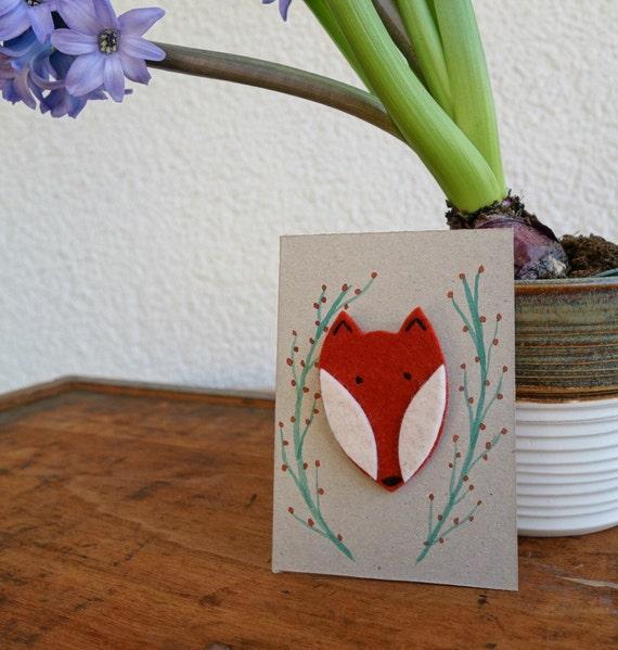 Ein Fuchs zum Anstecken! Brosche aus Filz mit handgemaltem Tag