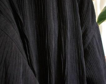 Amazing rippled black coat