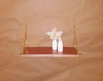 Leather shelf straps