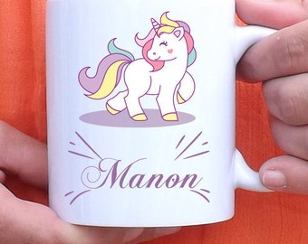 Mug to customize little Unicorn - Cup - personalized gift - name - birthday gift