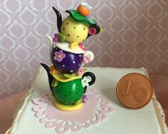 Alice in Wonderland miniature teapot