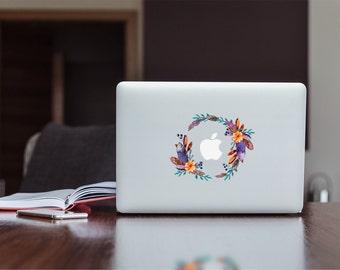 Elegant flower ring / Ornamental / Ornament , Apple MacBook / Laptop / iPad color Mint Decal sticker