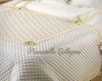 ELISA Quilted Coverlet/Copriletto Imbottito - NEW