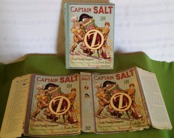 Rare Oz book,Captain Salt in Oz by Ruth Plumly Thompson Illustrated by John R. Neill published in 1936 Reilly and Lee
