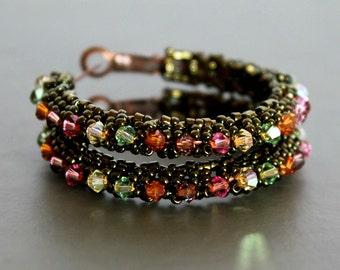 Swarovski crystal earrings, crystal earrings, swarovski jewelry, hoop earrings, big hoops, boho earrings, bohemian earrings, gypsy earrings