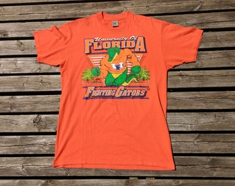 Vintage 90's University of Florida Fighting Gators t-shirt Made in USA by Delta XL