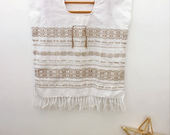 MEXICAN weaved BLOUSE-- Short Huipil --