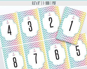 Nautical Live Number Cards(1-999) | Live Sale Numbers, Number Tags, Facebook live numbers
