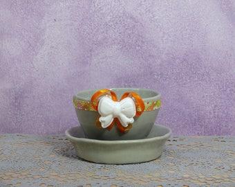 Pearl Grey ceramic vase-Pearl grey Ceramic Vase