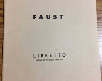 1954 Metropolitan Opera Libretto - Faust