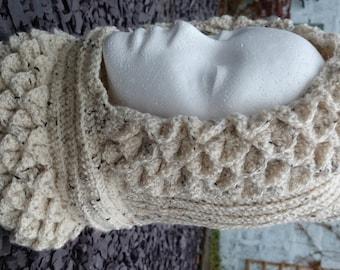 Handmade, crochet dragon scale, mermaid scales, cowl, snood, hood, Scottish, wool, yarn, winter, gift, birthday, Christmas, Game of Thrones,